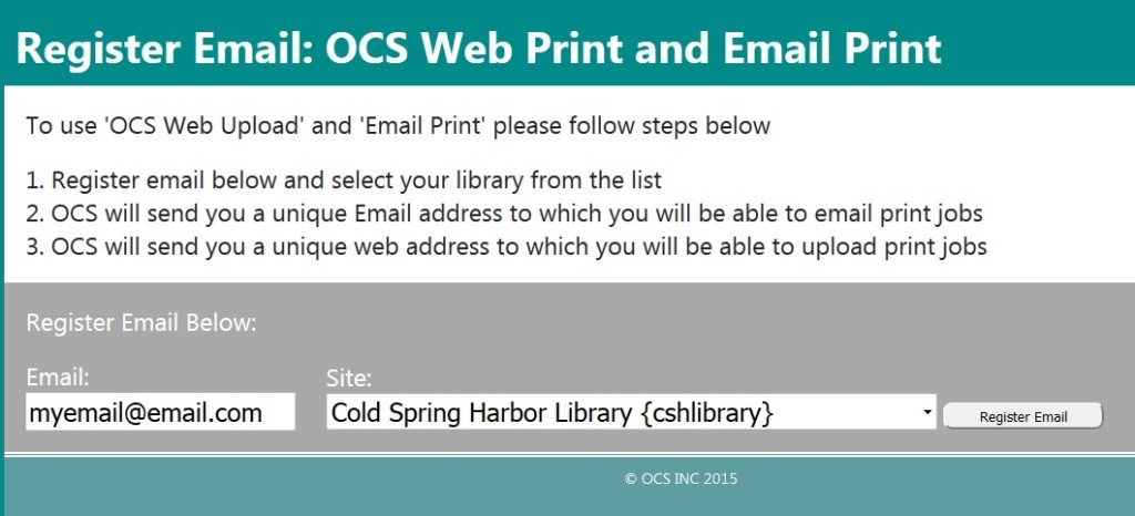 Cold Spring Harbor Library Wireless Printing